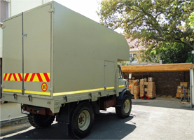 Transport vehicle to distribute Christian materials in the field