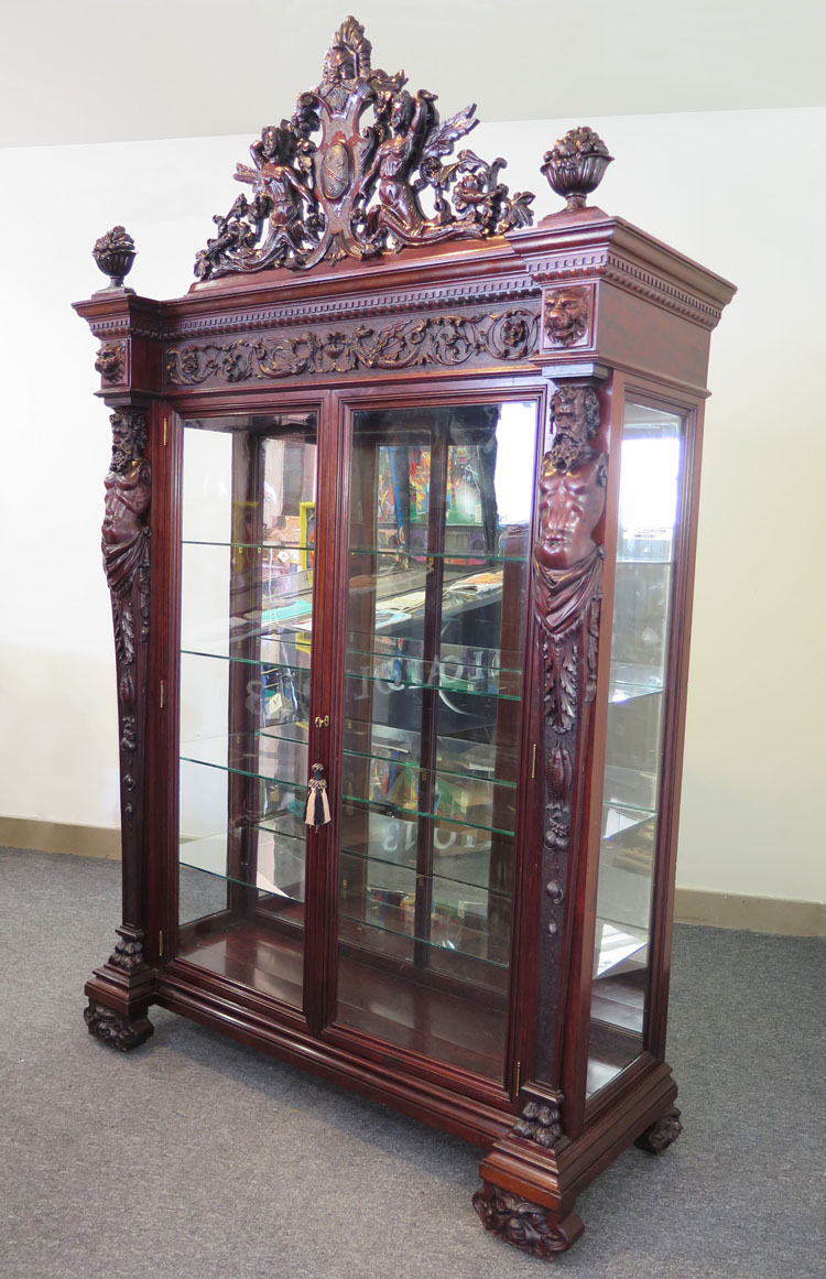 Top Of The Line Mahogany Rj Horner Atlas China Cabinet