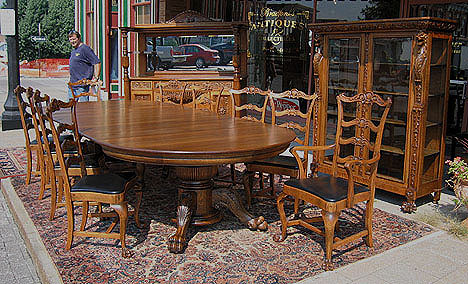 Quarter Sawn Oak 12 Piece Dining Room Set