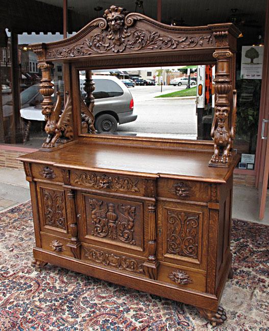 Rj Horner Style Quartersawn Oak Sideboard