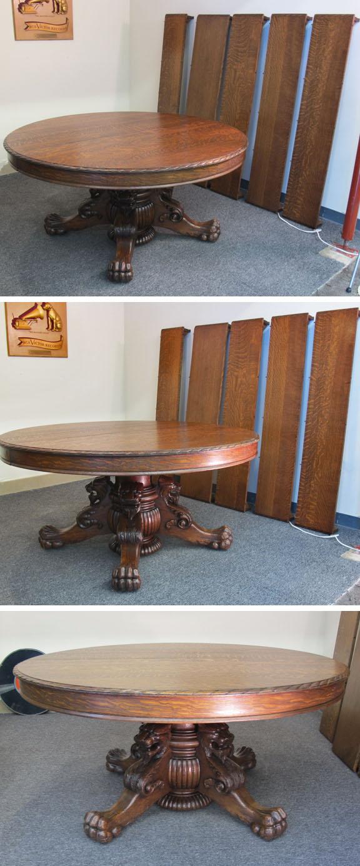 Hastings Quartersawn Oak Lion Head Dining Table
