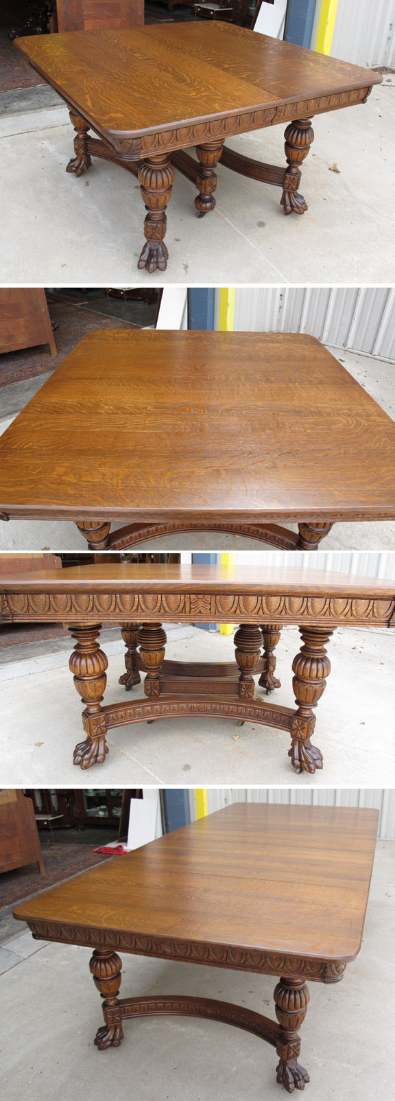 quartersawn oak 50 inch square dining table
