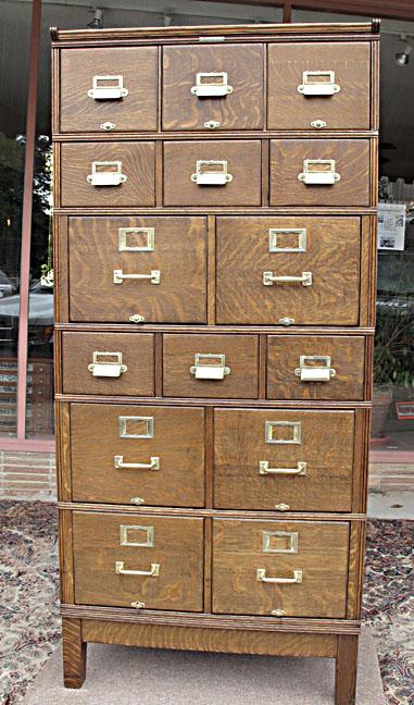 Yawman & Erbe Quartersawn Oak Stacking File Cabinet