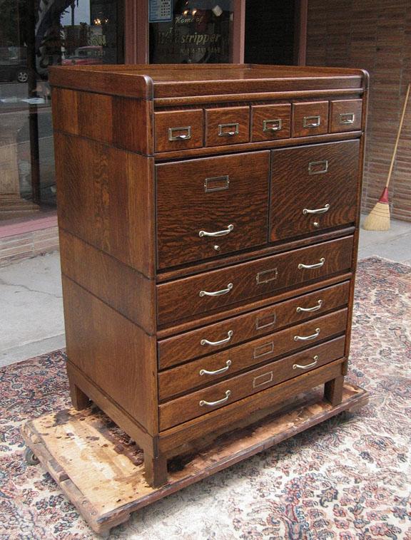 Quartersawn Oak Globe Or N Stacking File Cabinet