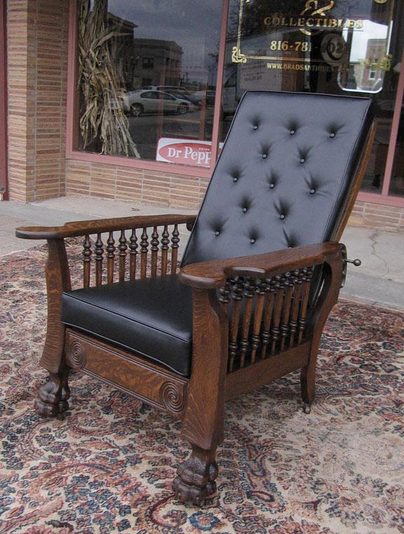 & Quartersawn Oak Claw Foot Morris Chair islam-shia.org