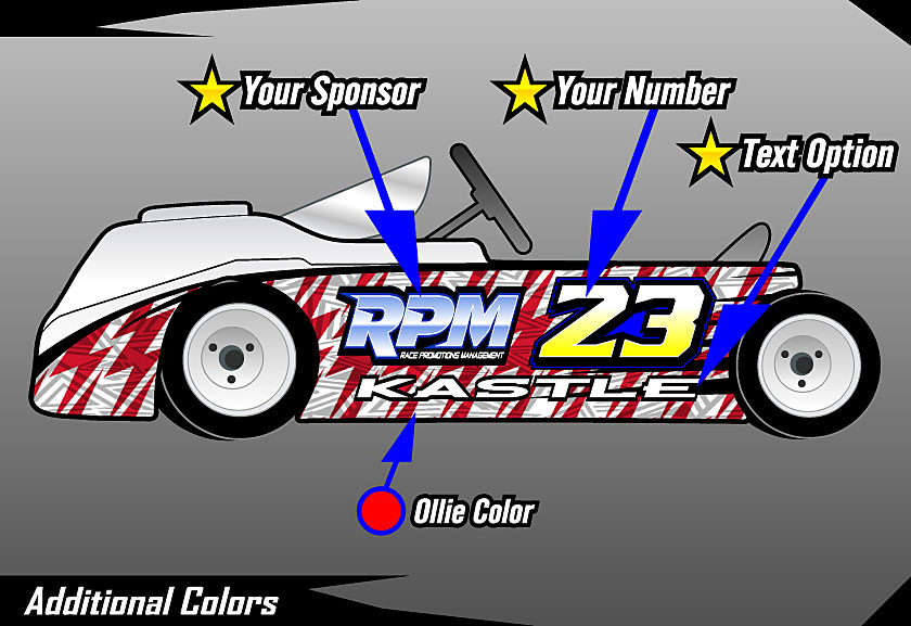 Race Car Numbers Graphics