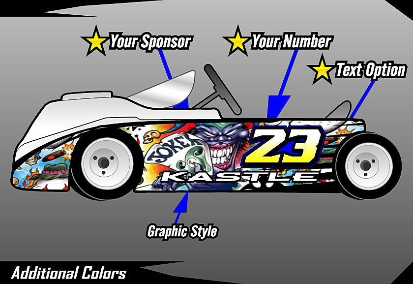 Cage Graphix Race Car Graphics Race Car Numbers Kart Wrap