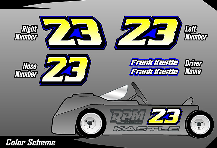 Cage Graphix Race Car Graphics Race Car Numbers Kart Number Kit