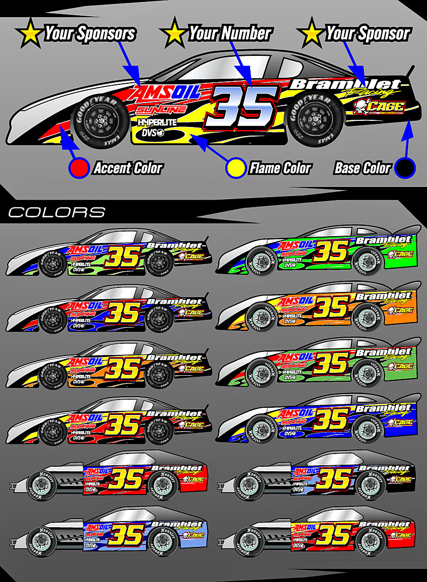 Race Car Graphics And Numbers Design Software