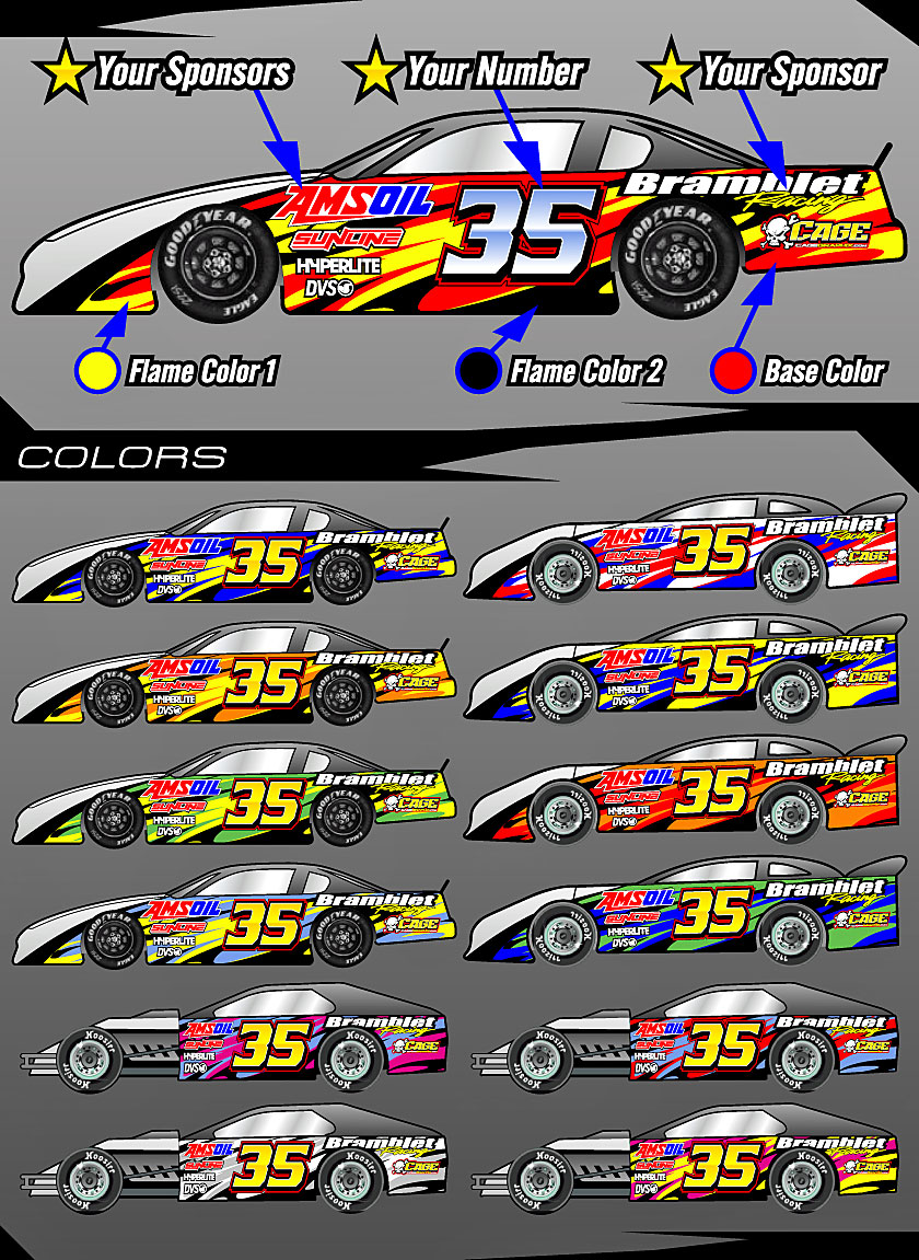 Cage Graphix Race Car Graphics Race Car Numbers